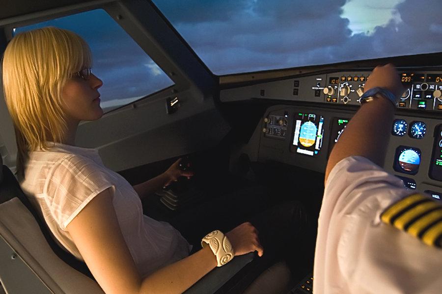 Flugsimulator Airbus für 30 Minuten in Mannheim