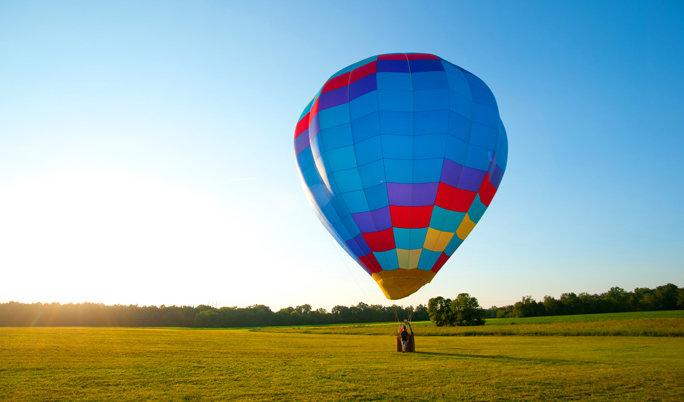 Ballonfahrt in Zwickau