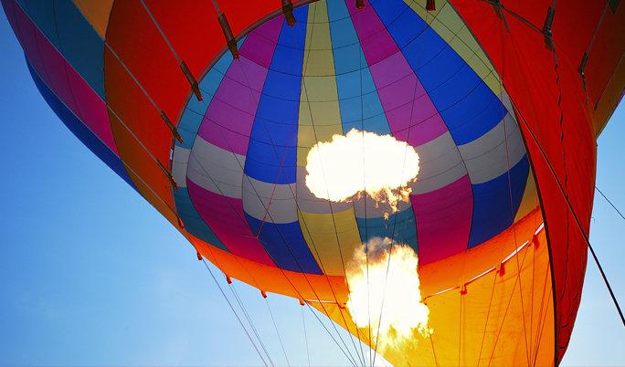 Ballonfahrt mit blauem Himmel Hürtgenwald