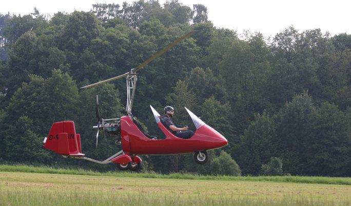 Gyrocopter fliegen in Wipperfürth