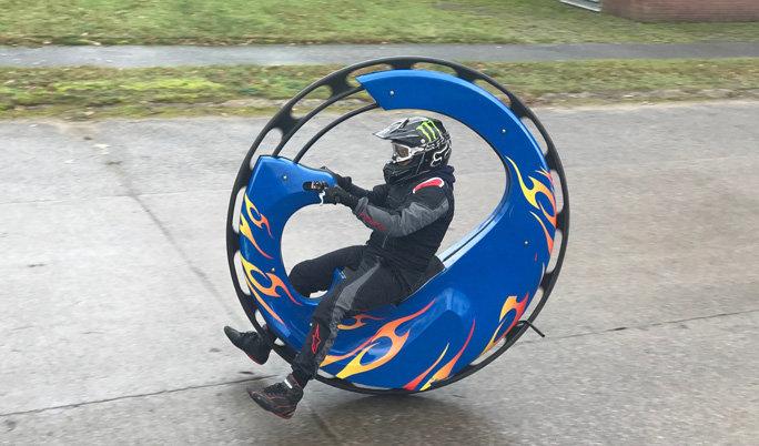 Monowheel fahren
