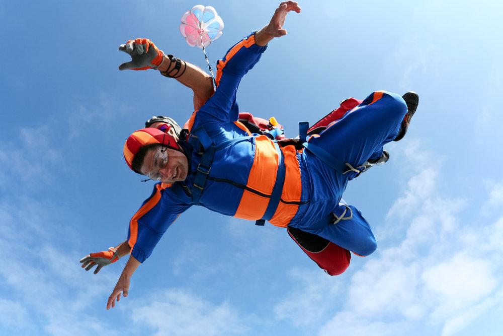 Tandem Fallschirmsprung freier Flug in Meißendorf
