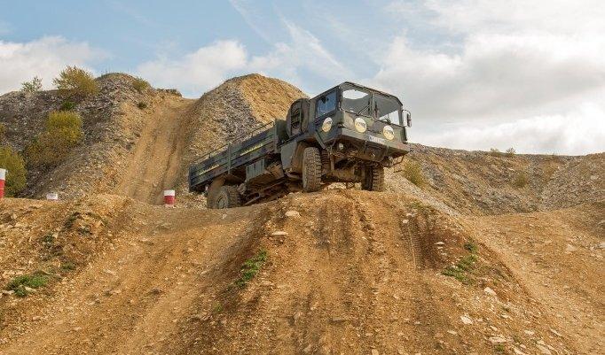 Truck am Berg